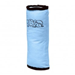Dětský polštář na bezpečnostní pás modrý