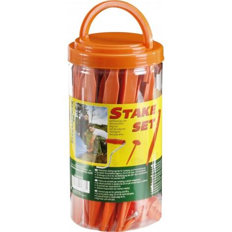 Stanové kolíky Brunner Stake (20+10 ks) - plastový box