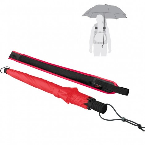 Trekingový deštník Swing handsfree červený