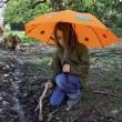 Trekingový deštník Swing liteflex kids oranžový
