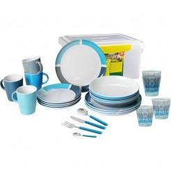 Melaminové nádobí Brunner Spectrum modré - Set All Inclusive