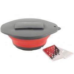 Skládací miska se struhadlem Outwell červená