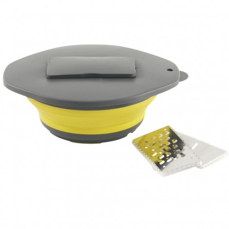 Skládací miska se struhadlem Outwell žlutá
