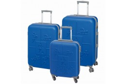 Cestovní kufry sada Check.In Sports 3dílná modrá