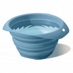 Skládací miska pro psa modrá