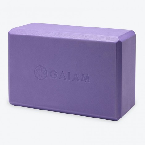Blok Gaiam na jógu fialový