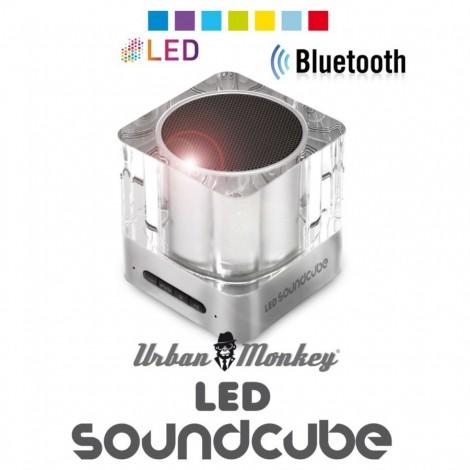 Bluetooth reproduktor Urban Monkey LED SoundCube