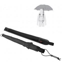Trekingový deštník Swing handsfree černý
