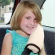 Dětský polštář na bezpečnostní pás béžový