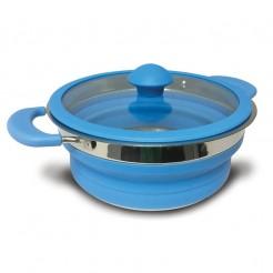Skládací hrnec Kampa 1,5 l modrý