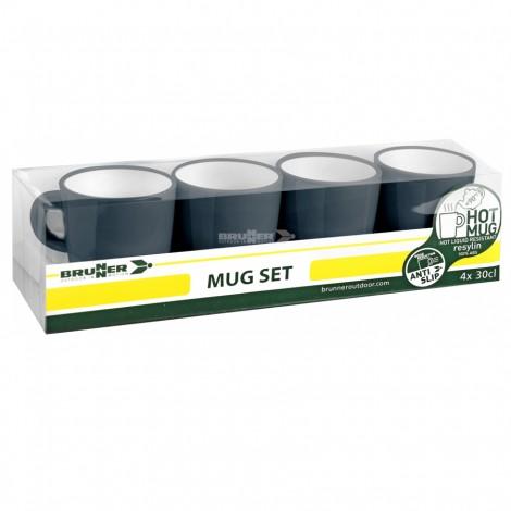 Hrnky Brunner Mug Set Granyte- set 4 ks