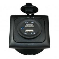 USB zásuvka Haba 1x1000 mA, 1x2100 mA