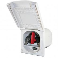 Venkovní zásuvka HABA MSI s vypínačem a voltmetrem