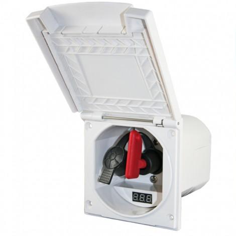 Zásuvka HABA MSI s hlavním vypínačem a voltmetrem