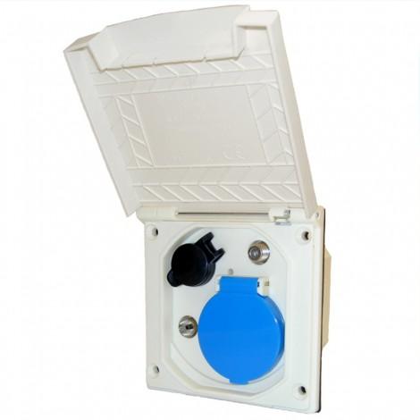 Venkovní zásuvka Haba ESB-3 bílá