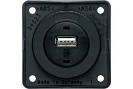 USB zásuvka Berker šedá