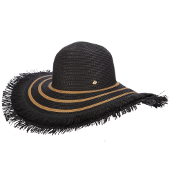 Dámský klobouk Cappelli Straworld Fringe černý