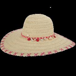 Dámský klobouk Cappelli Straworld Shell růžový