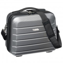 Kosmetický kufřík Check.In London 2.0 Carbon stříbrný