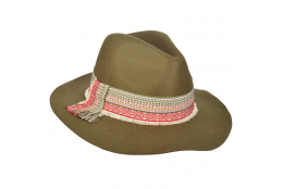 Dámský klobouk Scala Safari W/Woven zelený