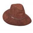 Dámský klobouk Scala FauxSuede Safari