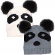 Dámská pletená čepice Scala Novelty Knit panda