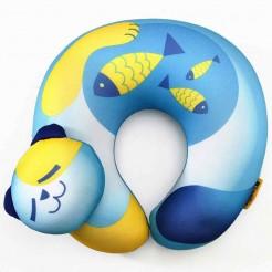 Dětský cestovní polštář na krk Travel Blue Fun Pillow Kočka