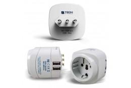 Cestovní adaptér s dvojitým USB Travel Blue Evropa - Itálie