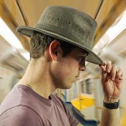 Pánský klobouk DPC Wool Blend Safari hnědý