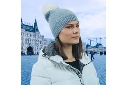 Dámská zimní čepice Scala Knit Faux Fur Pom