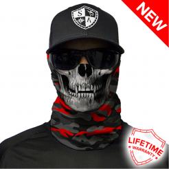 Multifunkční šátek SA Fire Red Military Blackout Camo Skull. skladem ab838c9f5d