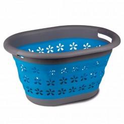 Skládací koš na prádlo Kampa modrý