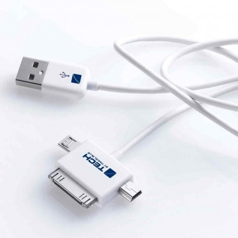 Nabíjecí a datový kabel Travel Blue - 3 v 1