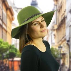 Dámský klobouk Scala Ultrafelt zelený