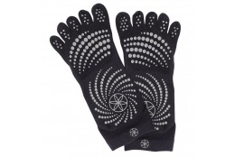 Ponožky na jógu Gaiam No-Slip Grey