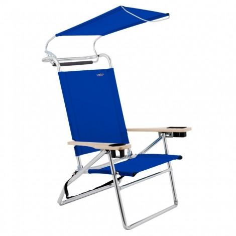 Plážové křeslo se střechou Copa Canopy tmavě modré