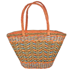Plážová taška Cappelli Straworld Straw oranžová