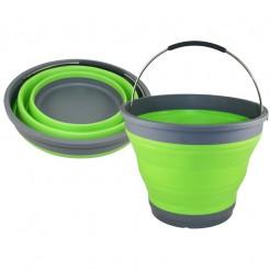 Víceúčelový skládací kbelík Haba 10 l zelený
