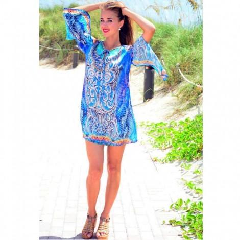 Dámské plážové šaty La Moda Poly modré