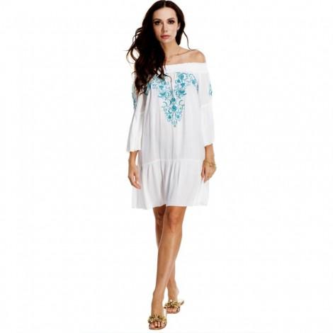 Dámské plážové šaty La Moda Rayon bílé