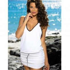 Plážové šaty Marko Model Elsa bílé