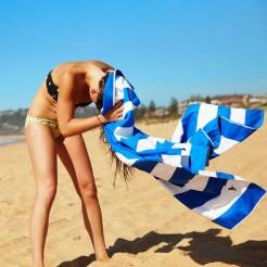 Rychleschnoucí osuška Dock&Bay Beach modrá XL