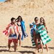 Plážová rychleschnoucí osuška Dock & Bay Cabana zelená XL