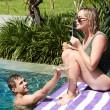 Plážová rychleschnoucí osuška Dock & Bay Cabana fialová XL