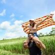 Plážová rychleschnoucí osuška Dock & Bay Festival oranžovožlutá L