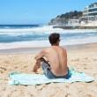 Plážová rychleschnoucí osuška Dock & Bay Summer modrozelená L