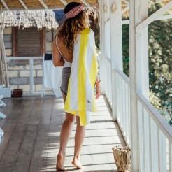 Rychleschnoucí osuška Dock&Bay Beach žlutá XL