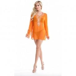 Dámská plážová šifonová tunika La Moda oranžová