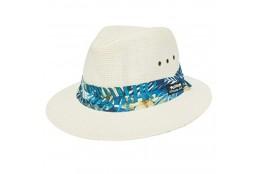 Pánský klobouk Panama Jack Safari Toyo modrý