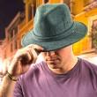 Pánský klobouk DPC Wool Blend Safari šedý